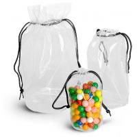 China Transparent PVC Drawstring Bags Vinyl Drawstring Storage Bag PVC Drawstring Pouch in Round Shape on sale
