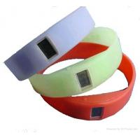 China Embossed rubber silicone ion sport watch, silicone armbands, wide silicone bracelets on sale
