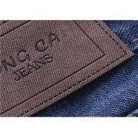 Buy cheap Logo Printable Embossed Leather Patches With  Leather Clothing Labels from Wholesalers