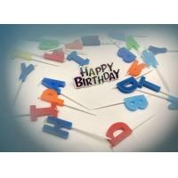 Letter Shape Birthday Party Cake Candles With 5 Random Colors SGS & ISO9001