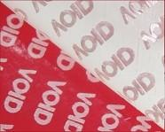 Red VOID Tamper Evident Label Material Anti - Counterfeit Low Residue