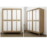China American StyleHotel Room Wardrobe Sliding Door With Glass Door / Wooden Door on sale
