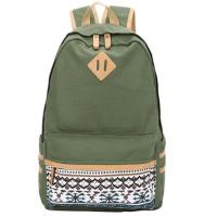 Buy cheap Casual Style Canvas School Bags , Unisex Travel Hiking Backpack Custom Color from Wholesalers