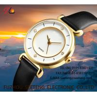 Buy cheap WHOLESALE PU STRAP ALLOY CASE QUARTZ WATCHES LADIES WATCH WITH DIAMOND from wholesalers