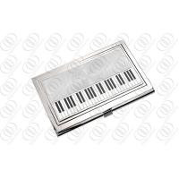 China Stainless Steel Piano Business Cards Case Holder on sale