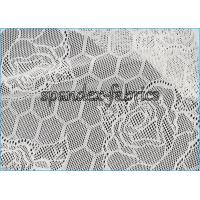 Buy cheap Lotus Flower And Hexagon Pattern Sheer Lace Fabric Stretch Jacquard from Wholesalers