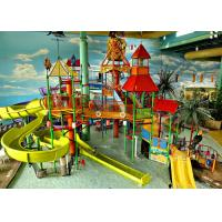 Buy cheap Aqua Fun Park Commercial Playground Equipment With Fiberglass Material from wholesalers
