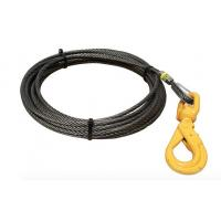 China 5/8 Fiber Core Wire Rope And Sling Winch Cables With Swivel Self Locking Hooks on sale