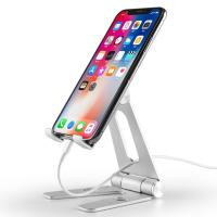 China COMER Adjustable portable and folding table aluminium tabletop phone hold for i phone tablet support stand holder