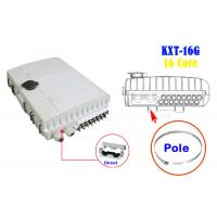 Buy cheap 2 Into 16 Out Overhead Fiber Optic Distribution Box Splicing Black Holding Pole Gray from Wholesalers