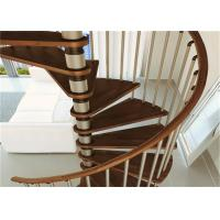 Buy cheap Prima Home Modular Spiral Staircase With Laminated Tempered Glass Tread And Post Railing from wholesalers
