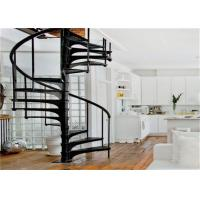 Buy cheap Home Decoration Walnut Wooden Spiral Staircase With Cable Railing , Uninterrupted View from wholesalers