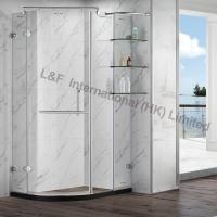 Buy cheap Tempered Glass Shower Enclosure with Shelf Hinge Door from Wholesalers