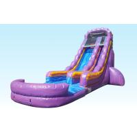 China Teenager 22ft Purple Paradise Inflatable Water Slides With Pool For Backyard Party on sale