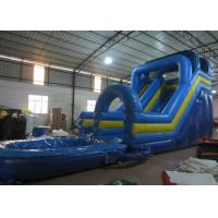 Buy cheap Digital Printing Long Inflatable Giant Slip And Slide , Amusement Park Outdoor Water Slides from Wholesalers