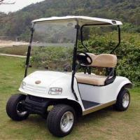 China 2-seater Golf Cart with 3kW Motor, Single Stage Rack, for Steering System and 80km Travel Distance on sale