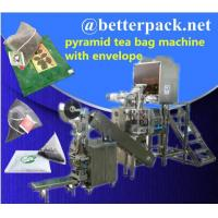 Quality pyramid tea bag machine with outer envelope device for sale