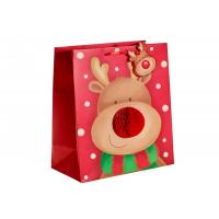 China Custom Design Merry Christmas Xmas Paper Gift Bags With Honeycomb and POP UP attachment on sale