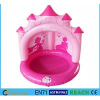 Buy cheap Pink Castle Inflatable Swimming Pool OEM Accepted With Sun Protection Canopy from Wholesalers