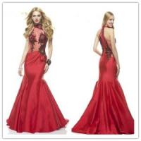 Buy cheap Sexy mermaid red taffeta prom dress from Wholesalers