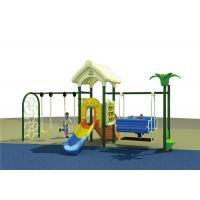 China Plastic Childrens Swing Set , Outdoor Swing And Slide Set For Backyard Playground on sale