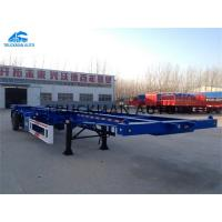 China Flatbed Cargo Container Semi Trailer 3 * 13 Ton Capacity With Tubeless Tire on sale