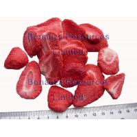 Buy cheap Nothing Added Freeze Dried Strawberries slice 5-7 mm  Dehydrated fruit from Wholesalers