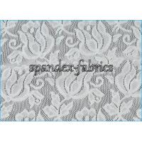 Buy cheap Jacquard Power Mesh Fabric / Spandex Flower Designs Nylon Lace Fabric from Wholesalers