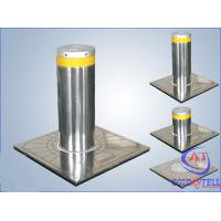 Custom Manual Hydraulic Security Bollards , Stainless Steel Automatic Road Blocker