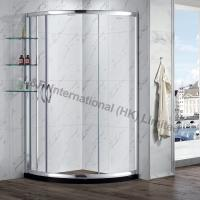 Buy cheap Tempered Glass Round Sliding door Shower Enclosure with Shelf from Wholesalers