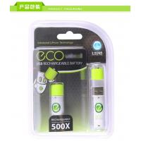 Buy cheap USB Rechargeable Battery, 1.5V, 5AA 1040mAh Li-ion, 2 hours charging, rechargeable 500X from wholesalers