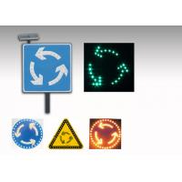 5V 3W LED Solar Traffic Signs , Solar Powered Roundabout Warning Sign