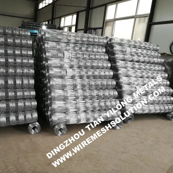 Galvanized Iron Cattle Fence for Road Woven Wire Mesh of Field Wire ...