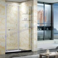 Quality 8MM Glass Pivot Shower Door with Glass Shelf for sale
