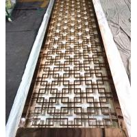 Buy cheap High-grade 304 stainless steel mirror rose gold stainless steel wall panels screen factory from Wholesalers