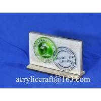 Buy cheap POP acrylic logo block /acrylic logo display stand / acrylic logo holder from wholesalers