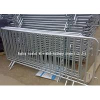 Powder Coated Temporary Fencing Panels , Portable Steel Security Fencing
