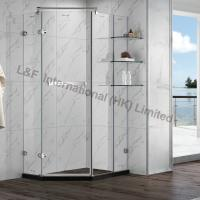 Buy cheap R6114-2HL Tempered Glass Hinge Door with Shelf Shower Enclosure from Wholesalers