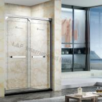 Buy cheap Luxury 304# Stainless Steel Etched Pattern Shower Door with Double Sliding Door from Wholesalers