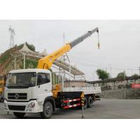 Dongfeng LHD 6x4 15 Ton Crane Truck , Mobile Crane Truck With Telescopic Boom
