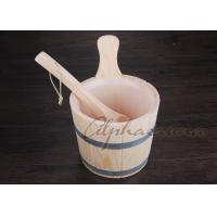 Handmade Pine Sauna Bucket Authentic White Pine Wooden Sauna Bucket Includes a plastic sanitary liner