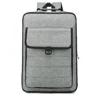 Buy cheap Gray Polyester Material Canvas Laptop Backpack Multifunction Laptop Bag from wholesalers