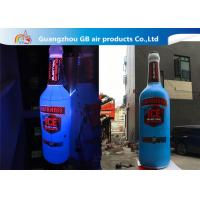 China Giant 5mH PVC Airtight Promotion Inflatable Olmeca Drink Bottle With Led Light on sale