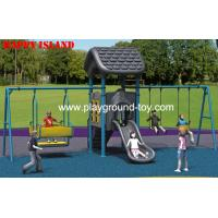 China Imported LLDPE Playground Swing Sets Outdoor Childrens Swing Sets on sale