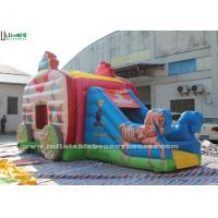 Buy cheap Pink Princess Carriage Inflatable Jumping Castle Slide With Lead Free Material from wholesalers