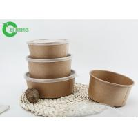 China Disposable kraft paper salad bowl 500ml take away various colour printing bowl factory
