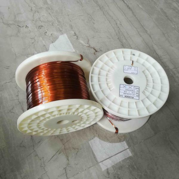 0.7 * 2.0mm Class 220 Flat Enameled Copper Wire For Transformer of ...