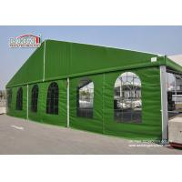 Buy cheap Aluminum 15 x 35 Green Color Military Temporary Aircraft Hangar Portable With Sandwich Walling For Sale from Wholesalers