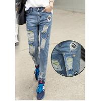 Buy cheap Lady denim jean fashion skinny thickness thread jeans from Wholesalers