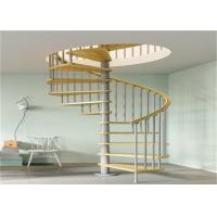 Buy cheap Anti Rust Prefab Custom Spiral Staircase With Stainless Steel Post Glass Railing from wholesalers